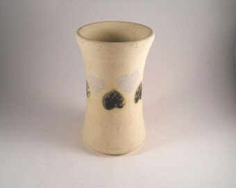 SW Hand Thrown Vase Hearts