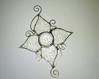 Christmas Ornament, Holiday Gift, Snowflake, Stained Glass, Suncatcher, Star, Decorative, Glass Snowflakes, Art & Collectibles,Glass Art