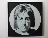 Limited Edition John Lennon stencil art vinyl record