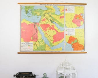 SALE Vintage  Map, Cradles of World Civilization