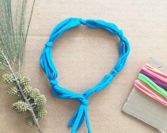 Upcycled fabric headband, boho headband, blue headband, hippie headband, The FiveBand, workout headband, upcycled fabric headband, hairband