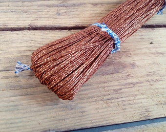 54.68 yards (50m) Metallic Copper Soutache Braid Soutache jewelry making Soutache cord russian braid soutache trim bracelet cords trim
