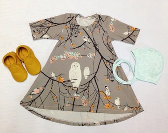 Owl and Friends Custom Dress Spring Collection LIMITED
