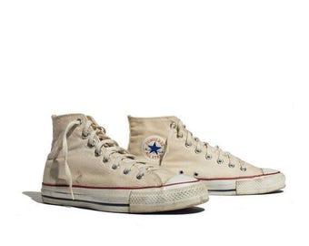 SALE 10 | Men's Vintage Made in USA Converse All Star Chuck Taylor Hi Top Shoes Sneakers