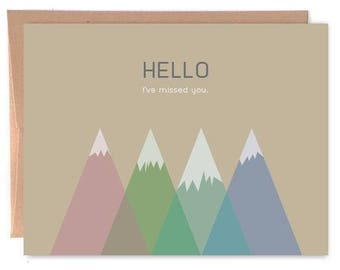 Hello. I've Missed You. - Card