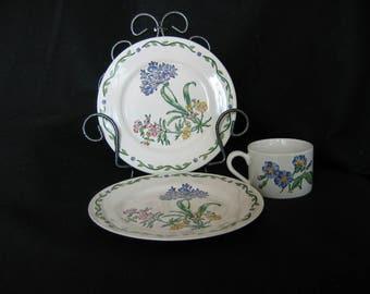 "International China Tableworks 3 Piece Set, Pattern ""Terrace Blossoms 072-01"""