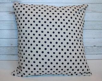 Farmhouse pillow polka dot pillow cover. 20x20 cushion cover. Farmhouse decor, couch pillow, bed pillow, nursery decor shabby chic decor
