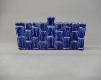 Hanukah Menorah - Midnight Blue Hand Carved