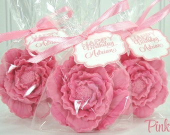 10 Peony Soap Favor, Choose Color for Weddings, Birthdays & Gifts!