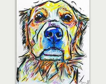 Colorful Pet Portrait, Colorful Art, Custom Dog Paintings, Acrylic On canvas, Wall Decor, Home Decor