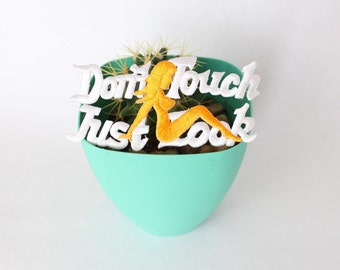 Vintage Dont Touch Just Look Patch