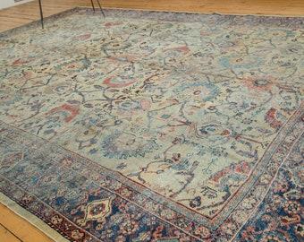 8.5x12 Distressed Antique Mahal Carpet