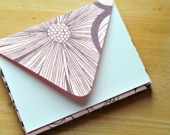 SALE-Pink & Gray Envelopes with White Cards // Set of 6 // Blank Cards // Greeting Cards // Birthday Cards // Love Letter