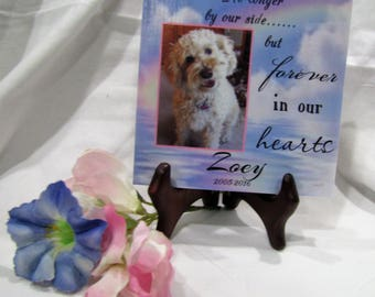 Pet memorial plaque - Remember your furry friend-- Rainbow Bridge