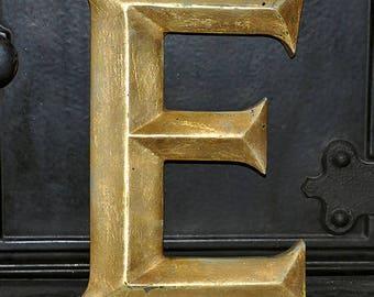 Vintage shop Letter, Pub Letter, uppercase E, resin letter, British history, salvaged, 28.5cm high