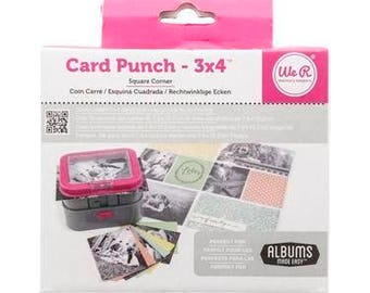 CLEARANCE -  We R Memory Keepers CARD PUNCH - 3 X 4 Square Corner