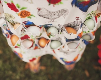 The Half Body  Egg Collecting Apron® , The Egg Gathering Apron® ( half body) Holds 10 eggs