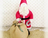 Vintage Collectable Creations Santa 11 inch Father Christmas 1980's Portland, OR, Charlotte Colistro Brown, Judy Hoiland