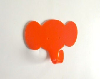 Objectify Orange Elephant Wall Hook