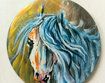 Cute, Hand Painted Pony Pendant