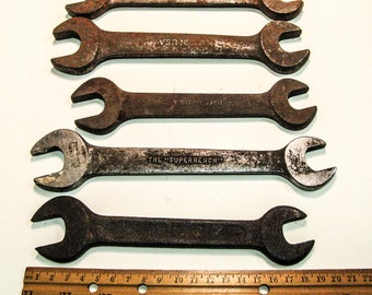 ANTIQUE / VINTAGE WRENCHES, Vintage Tools, Man Cave Decor, Assemblage Supply, Collectible Wrenches, Steampunk Supply, For Collection or Use