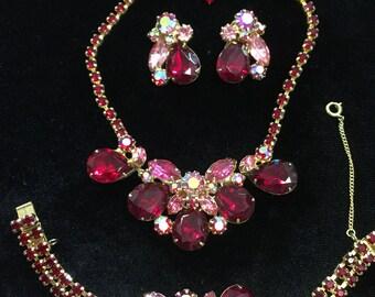 Vintage 1950's Julianna jewelry set immaculate SALE!!