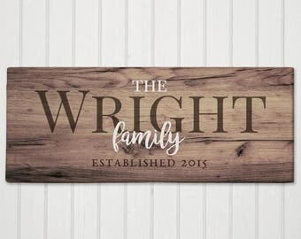 Personalized Family Established Canvas, wall decor, personalized, family, housewarming gift, home decor, wedding gift -gfy91105579