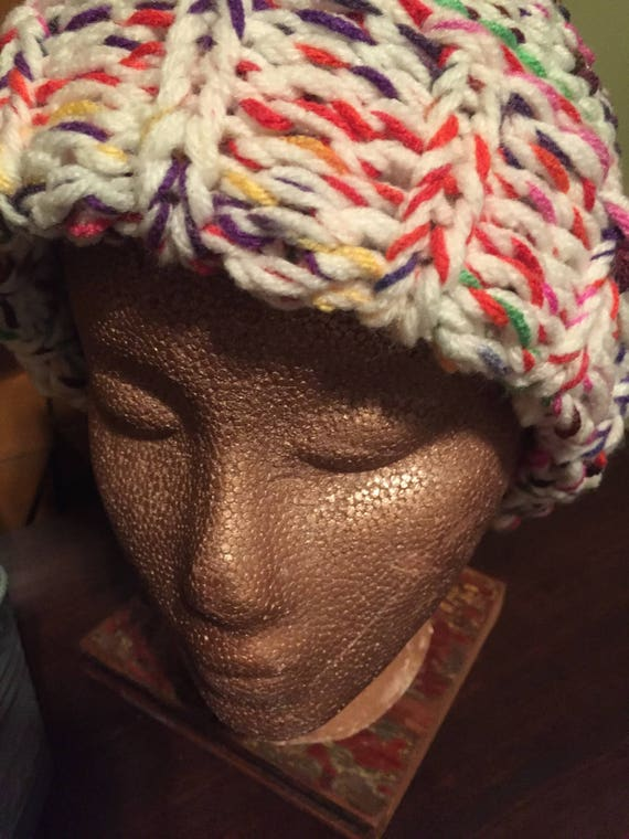 How To Loom Knit A Basket Weave Hat : Loom knit sinusoid hat pattern instant download from