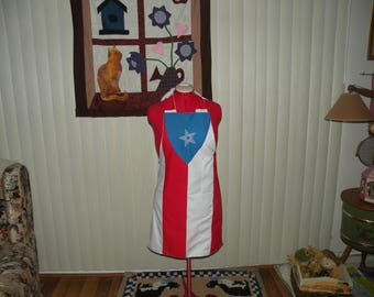 Puerto Rican Flag Apron