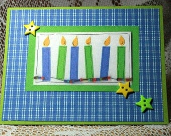 Birthday Candle Card  20170007