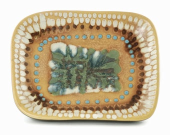 Vintage Harris Strong Mid Century Modern Rectangular Art Pottery Platter
