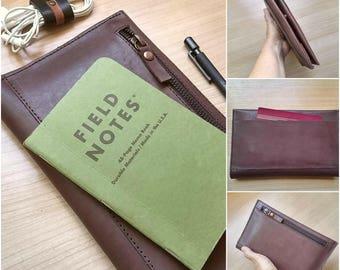 Travel wallet - organizer wallet - passport wallet -mens gift - travel holder
