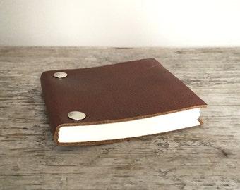 Leather Sketchbook - Repurposed Brown - Small
