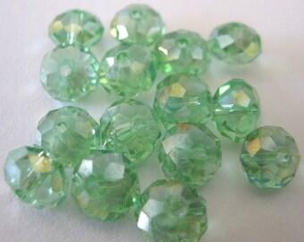Peridot AB Briolette Crystals E 293