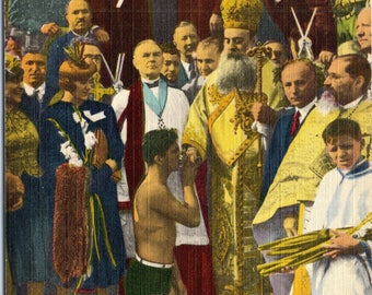 Tarpon Springs, Florida, Epiphany Day, Blessing From Archbishop - Vintage Postcard - Postcard - Unused (III)