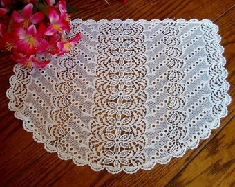 Crochet Lace Antimacassar Vintage Chair Linens