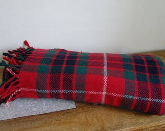 "Red Tartan Throw by Victoria Rugs, Fraser Red Tartan Picnic Blanket 54"" x 66"""