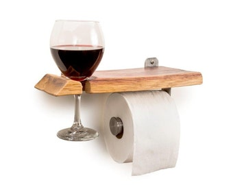 Wine Barrel Toilet Paper Holder