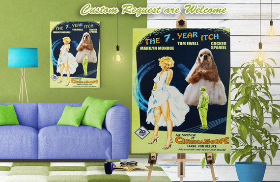 American Cocker Spaniel Print Fine Art Canvas - The Seven Year Itch Movie Poster NEW COLLECTION by Nobility Dogs