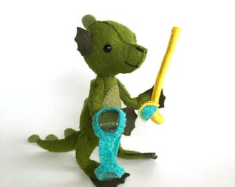 Nessie Lagoon Kit, sea monster sewing kit, felt sewing kit