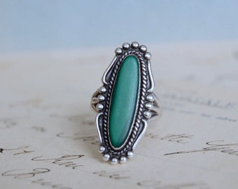 Vintage Malachite Ring - Size 7