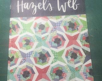 Hazel's web quilt pattern by One Canoe Two