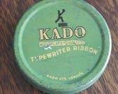 vintage kado typewriter ribbon tin