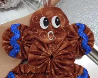 Gingerbread Yo Yo  Ornament - Gingerbread Cookie GB5