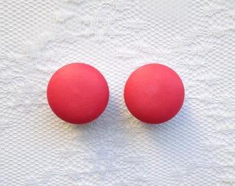 """Coral Pink Vintage Pair Plugs Gauges Size: 5/8"""" (16mm)"""