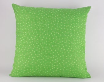 """Indoor/Outdoor Pillow Cover Lime Green 18"""" x 18"""" Knife Edge"""