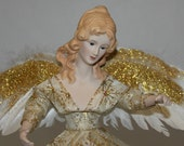Angel Tree Topper, Christmas Tree Topper, Christmas Angel. Holiday Deco, Christmas