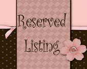 Reserved Listing for Yessica Paulino