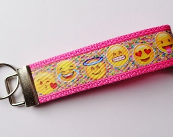 Key Fob/ Wristlet/ Keychain/Emoji print  /Ready to Ship
