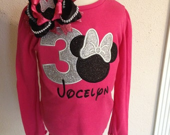 Glitter Minnie shirt